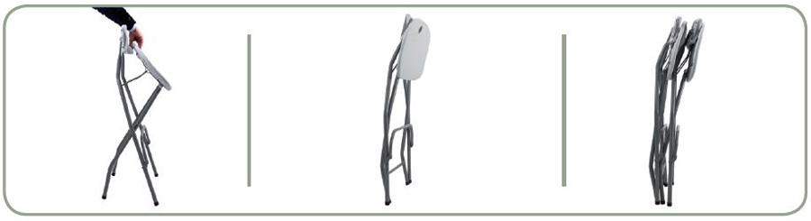 Taburete plegable t25 sillas y mesas plegables - Taburetes altos plegables ...