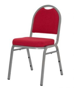 silla apilable S152 Silver - Red